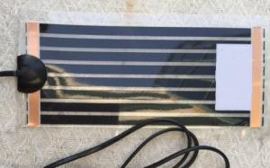 Heizmatte Schwarz (Heating Mat Black) 15 x 28 cm