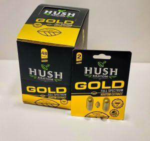 HUSH Kratom Gold Extract Full Spectrum Capsules